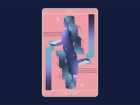The Star Tarot hope star mystical tarot deck card design the star tarot card playing card card tarot detailed growing vector flat flat illustration bright color combinations muted colors illustration flat background design