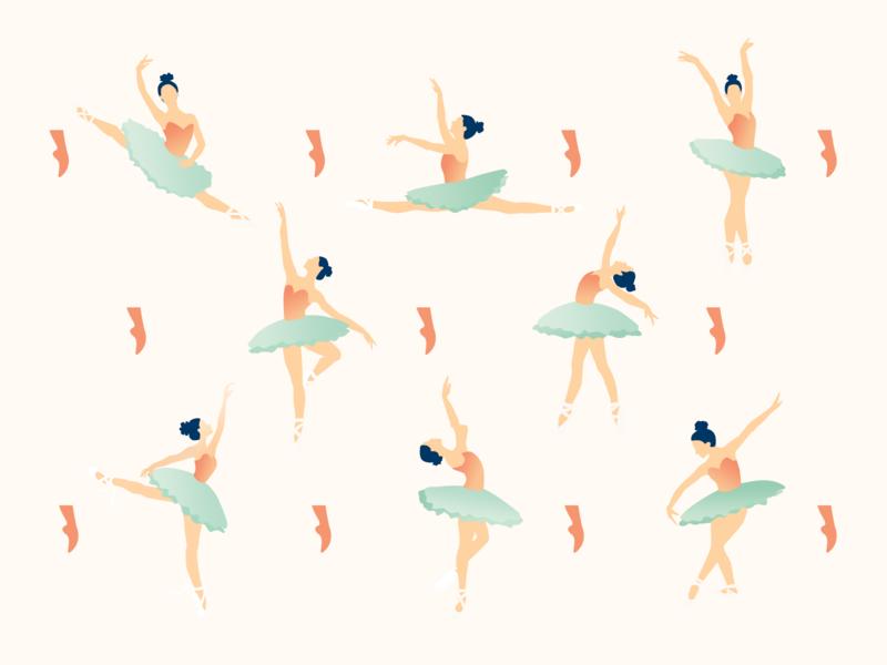 Ballet dancers pattern design pattern photoshop desktop design illustration dancer ballet