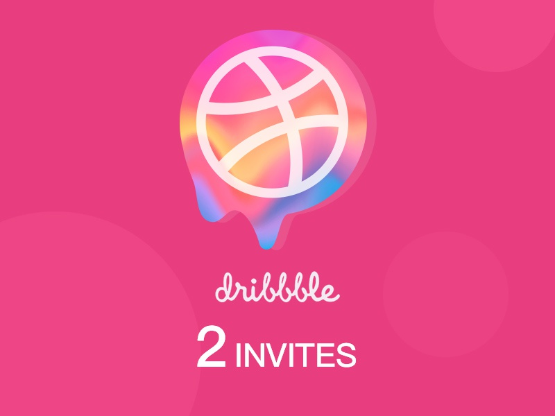2x Dribbble invites invite invitation