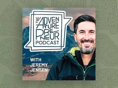 Adventurepreneur Podcast Album Cover Art handlettering logo branding design podcast album art