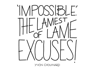 Lame Excuses quote type handlettering