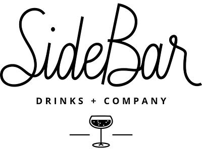 Sidebar Main Logo bar cocktails illustration hand lettering typography branding logo