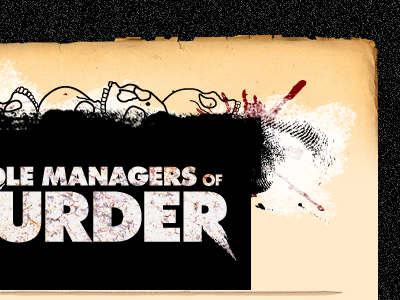 Managers e-mail template music metal photoshop red white black blood skulls ink paint futura paper rough