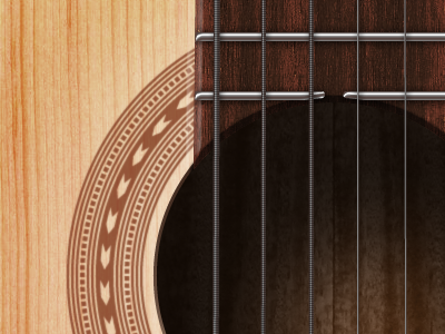 Acoustic guitar music wood brown singer-songwriter template illustrator photoshop illustration e-mail
