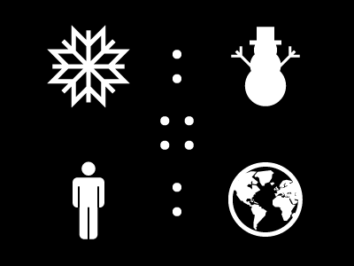 Unscientific snow black white illustrator illustration circle analogy