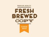 Fresh Brewed Copy logo concept 1