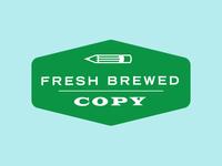 Fresh Brewed Copy logo concept 2