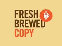 Fresh Brewed Copy logo concept 3