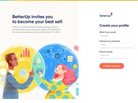 Registration Page design ui creative director betterup