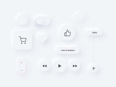 Soft UI elements uitribe uitrends minimal clean ui white softui illustration app design colors clean app elements userinterface userinterfacedesign
