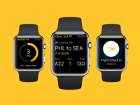 Apple watch mockup yellow
