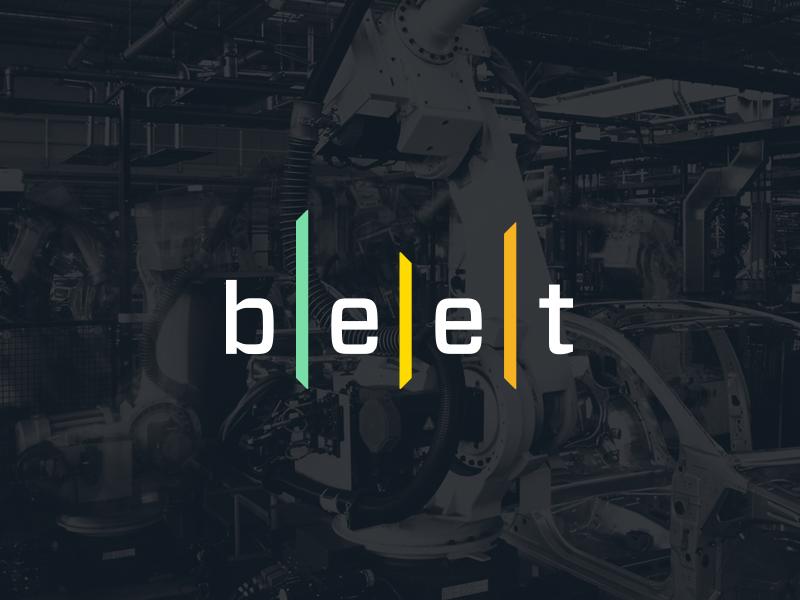 b|e|e|t analytics automotive technology tech typography branding logo