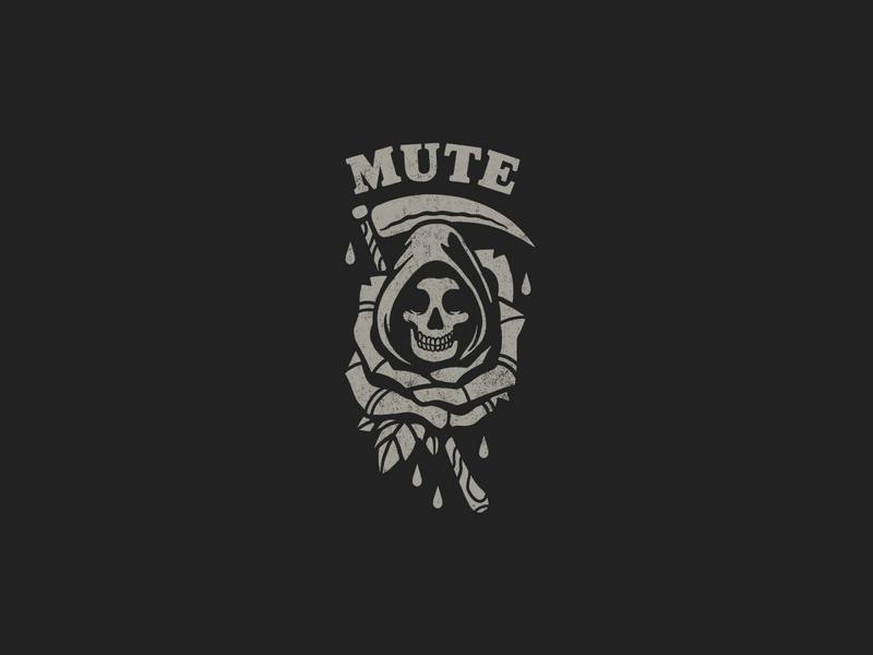 Mute punkr rock drops tattoo design dead rose death mute band merch artwork typography illustration print branding grey icon logo black design merch design merchandising merch