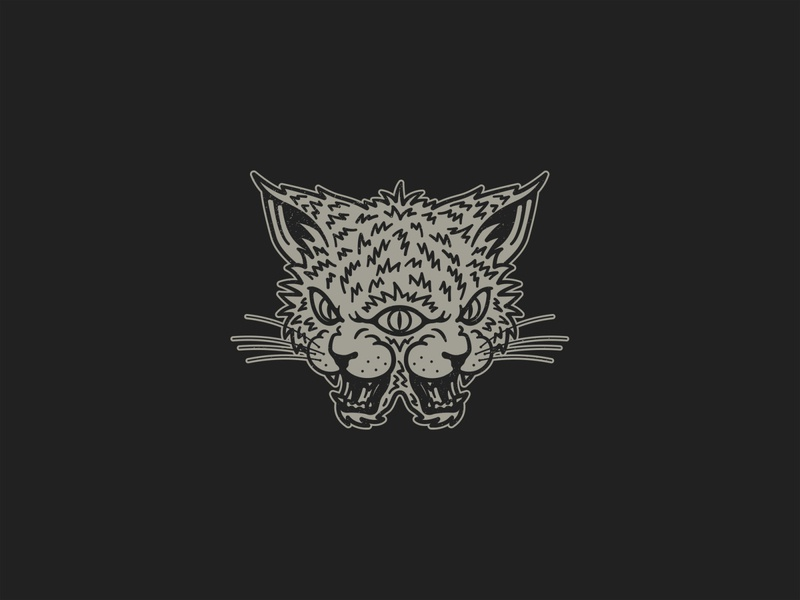 Quitters tshirt illustrator monster quitters band design merch design cat print icon branding merchandising artwork illustration grey logo black design tshirt design