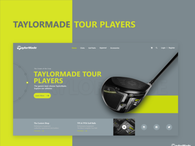 TayloreMade E-Commerce webpage