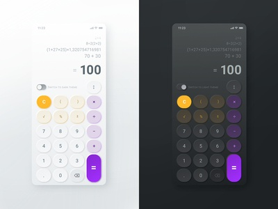 #Design for #DailyUi #Day004 #Calculator