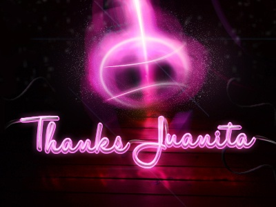 Thanks! wood neon invite debuts thanks colombia dribbble