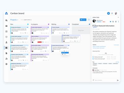 Canban board (CRM) ux uiux ui projects project task tasks canban crm portal crm