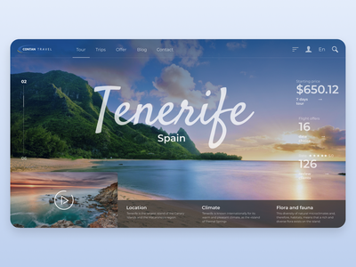 Tour page (Travel agency) cover design cover spain design ui ux offer tourism trip travelling travel agency travel tour