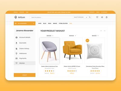 Product wishlist furniture website sofa furniture cover pattern menu cover page website design website webdesign decoration renovation homedesign homedecor