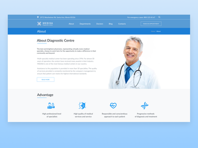 About Page (Diagnostic Medical Centre) webdesign design ui ux web website design web design website medical health healthy health care about about page about us