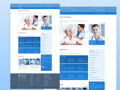 Department page (Mediacal centre) web app web design responsive diagnostic doctors heathcare website webdesign health clinic medical design medical care medical