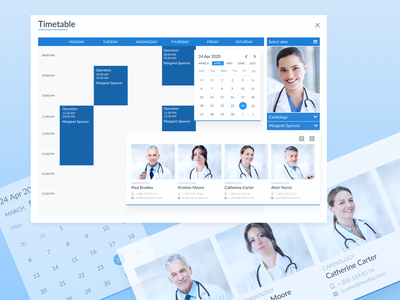Popup Timetable (Diagnostic Medical Centre) design ux ui webdesign web docotrs medical care medical app medical design health shedule timetable popup medical