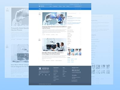 Blog Page (Medical Center) blog design medicine news blog page blog health medical webdesign web ux design