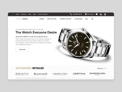 Legend Watch [Online Store] accessories sale zenith omega certina brands e-commerce website store e-commerce shop shop e-comerce e-commerce design watch design ui ux web webdesign watchface watches watch