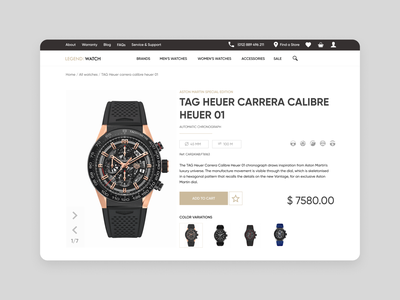Legend Watch [Product Page] card product card design accessories sale omega watch brands watch e-commerce design store design store e-commerce shop shop e-commerce watchface watches design web ui ux