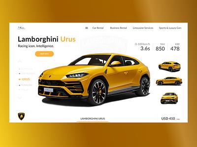 Car Rental Booking System urus lamborghini cars ux-ui rental booking car club car booking car