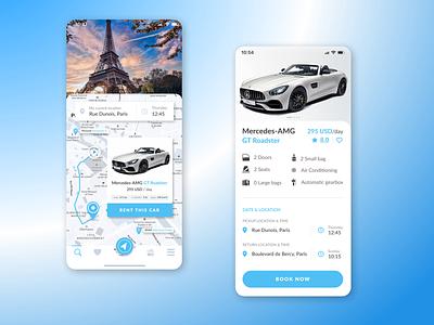 Car Rental Booking System ux designer rentcar ios app ux ui vector amg car ux-ui