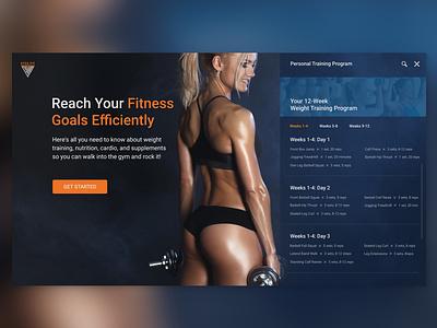 Fitness Club (web ver) web  design ux design ux  ui girl fitnessgirl gym ux fitness club fitness