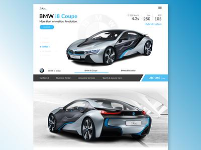 Rent Cars (web ver.) landing ui web ux premium car bmwi bmw rent car rent