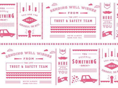 You are the best. Seriously, the best. pattern repeating packaging tape xoxo