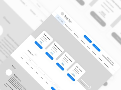 Wireframe for tour operator