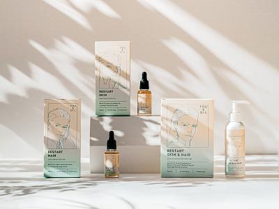 Packaging design packaging design illustration skin care product package packaging