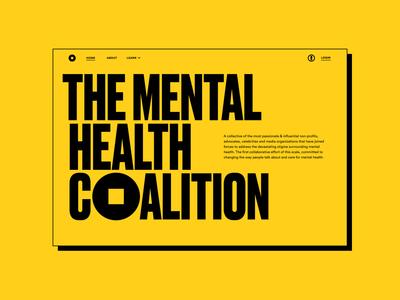 Mental Health Coalition typography website design ui landing page