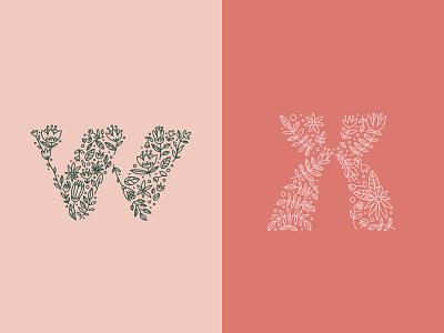 36 Days of Type — W/X doodle flowers spring challenge 36daysoftype-x 36daysoftype-w 36days-x 36days-w letter illustration vector art vector digital art lettering type design type typography design typography 36daysoftype07 36daysoftype