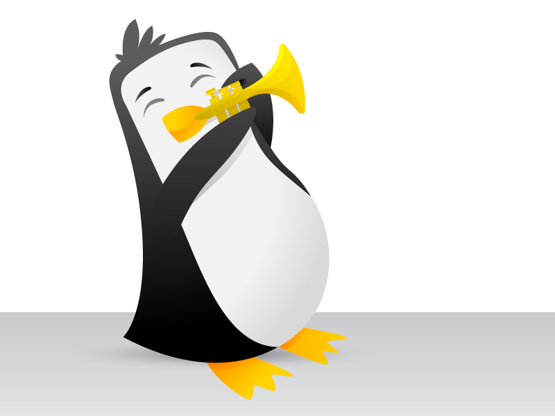 77d56721dd Musical Penguin by Mike Davis on Dribbble