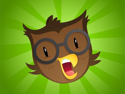 Owlbert vector illustration for kids logo inkpad
