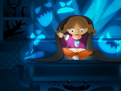 Scary inkpad vector illustration for kids scary