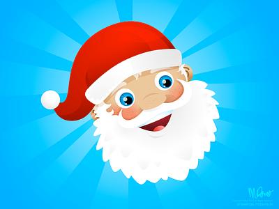 Santa illustration santa inkpad vector doodles face