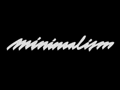 M I N I M A L I S M white black blackandwhite handlettering ink art caligraphy handwritting mojepismo font illustration lettering type vector design typography friday typo graphic design custom type