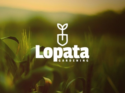 L O P A T A nature gardening mojepismo illustration design font vector typography lettering custom type graphic design friday typo logotype design logotype logo