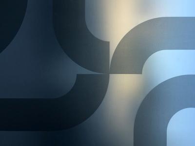 H U B  H U B objects shape elements gradient pattern design vector installation vinil glass