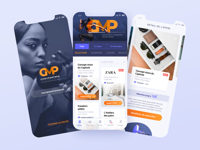 Sports cashback app - Homepage & Product page cashback sport blue cards shop ecommerce app detail page login home interface branding art direction product design ux ui