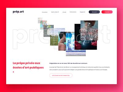 Design Shool Prépart - Animated Homepage webdesign artdirection mousehover animation red design shool design desktop website ux ui