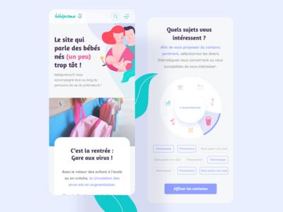 Baby app - Selector wheel & tag