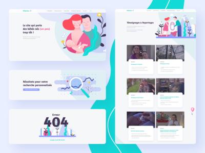 Baby website - Illustrations